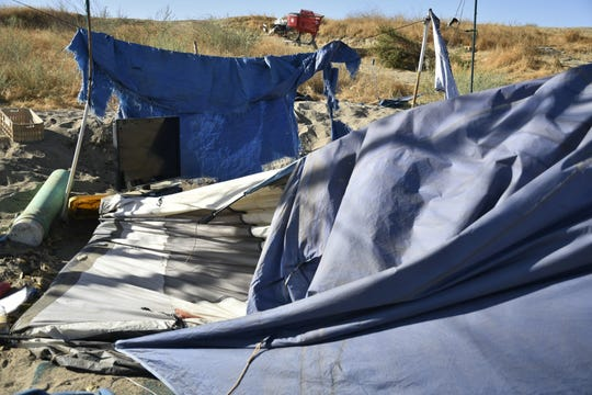 Homeless encampments were torn down in northwest Visalia. The city is making way for a walking trail near Riverway Sports Park.