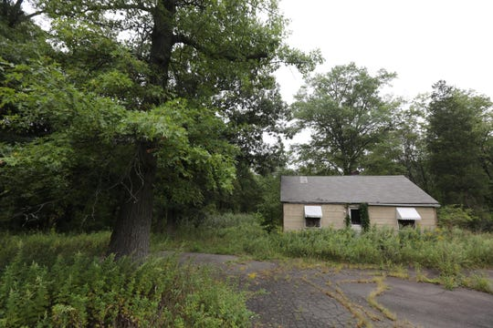An abandoned building is on part of about 75 acres off Route 45 that the town of Ramapo is looking to sell for use as a campus for yeshivas.