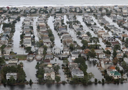 Water fills South Bethany following Superstorm Sandy on Oct. 30, 2012.