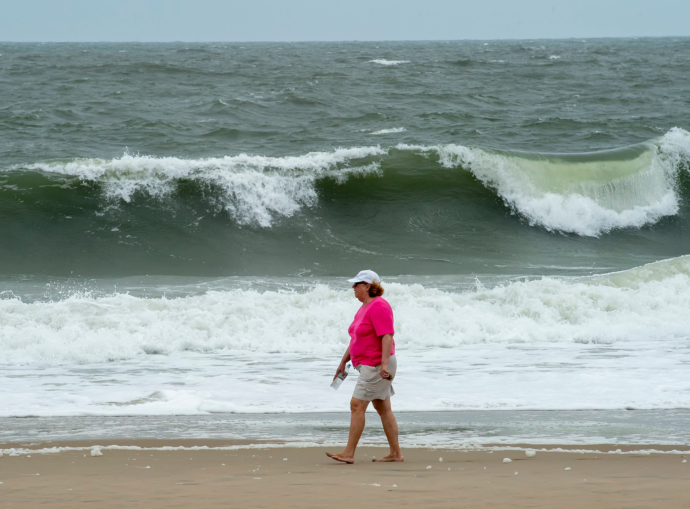 View of surf conditions at Bethany Beach after Hurricane Florence made landfall in North Carolina.