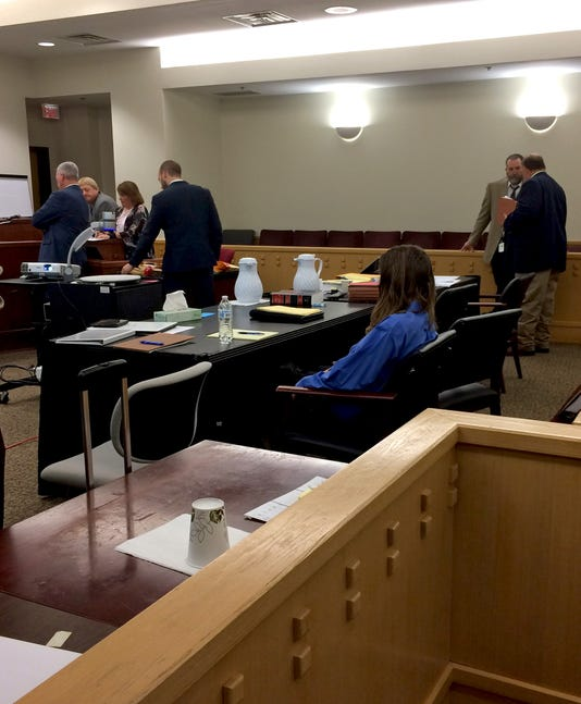Kody Lott sits in Fort Worth courtroom