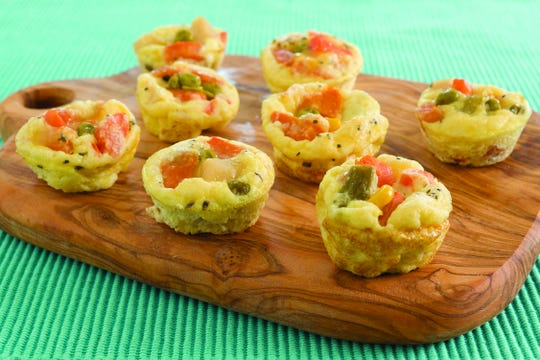 Vegetable frittatas minis