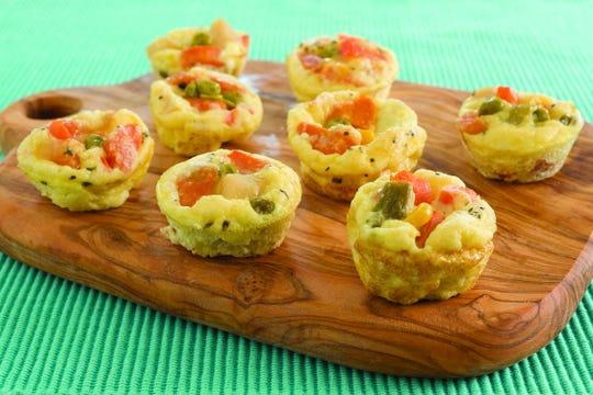 Vegetable frittatas minis