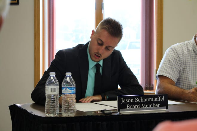Board members voted to censure Jason Schaumleffel over explicit tweets he liked on Twitter.
