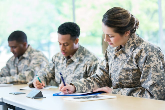 There is no legal requirement for a veteran to mention that she is a military reservist when applying for a position.
