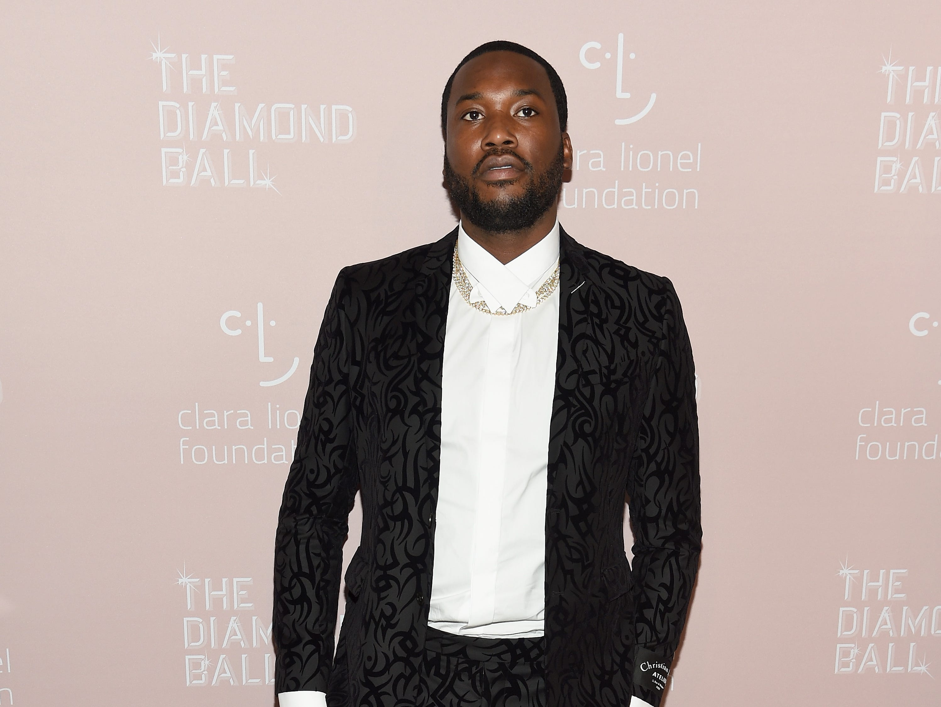 NEW YORK, NY - SEPTEMBER 13: Meek Mill attends Rihanna's 4th Annual Diamond Ball benefitting The Clara Lionel Foundation at Cipriani Wall Street on September 13, 2018 in New York City.  (Photo by Dimitrios Kambouris/Getty Images for Diamond Ball) ORG XMIT: 775197456 ORIG FILE ID: 1032941658
