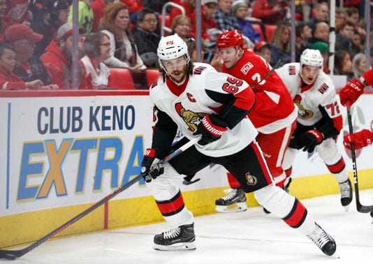 Nhl Ottawa Senators At Detroit Red Wings