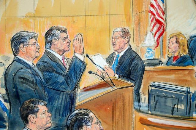 Paul Manafort in federal court, Sept. 14, 2018, Washington, D.C.