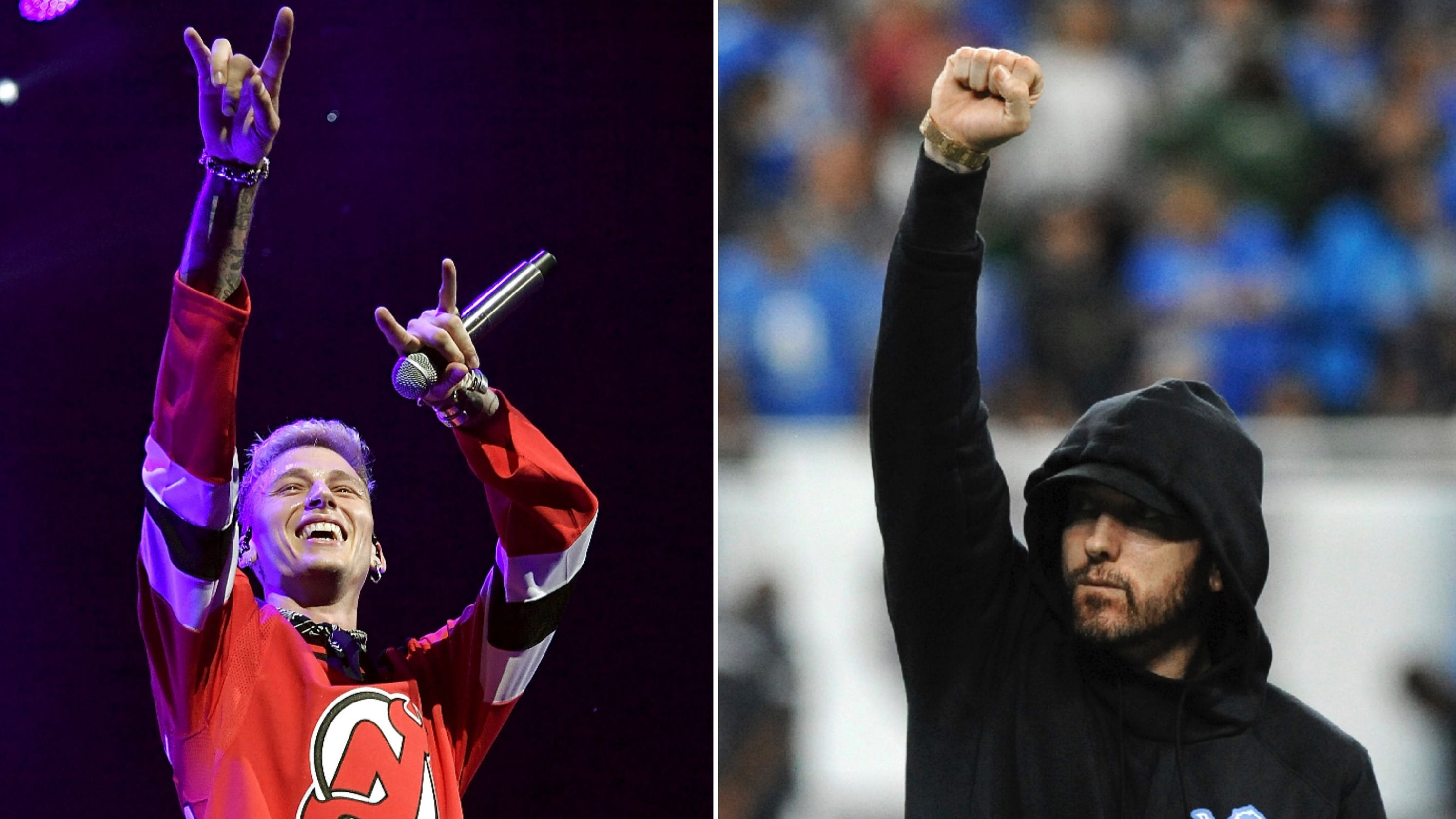 eminem makes youtube history while machine gun kelly gets booed