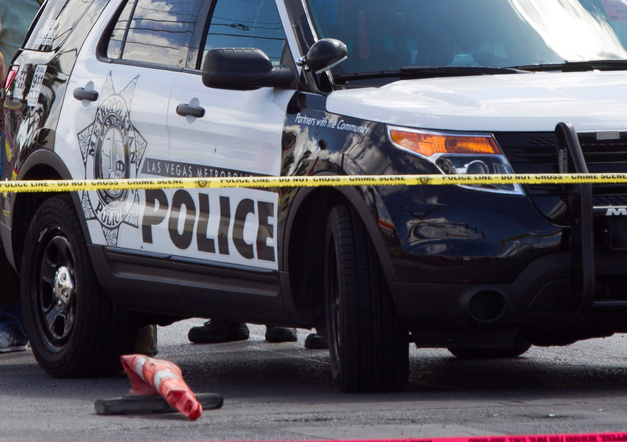 A Las Vegas Metro Police patrol vehicle is seen in this Sept. 4, 2015 photo.