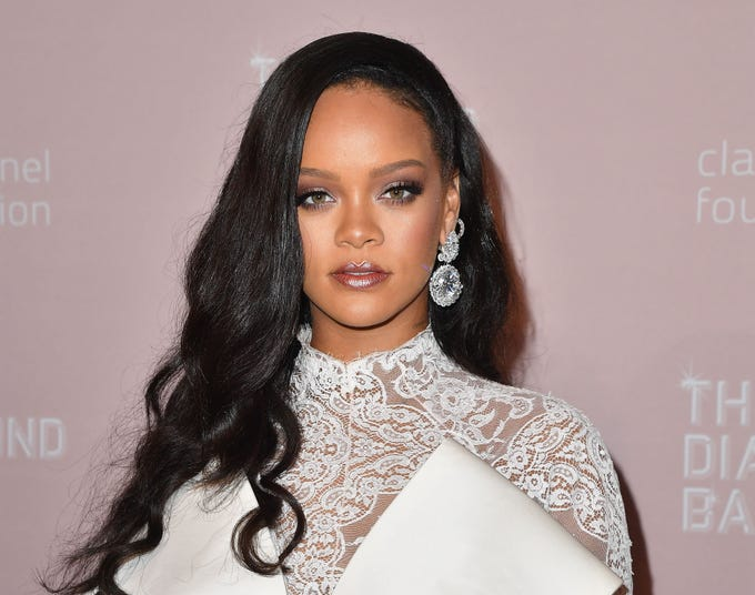 Rihanna attends Rihanna's 4th Annual Diamond Ball at Cipriani Wall Street on September 13, 2018 in New York City. (Photo by Angela Weiss / AFP)ANGELA WEISS/AFP/Getty Images ORIG FILE ID: AFP_1932O4