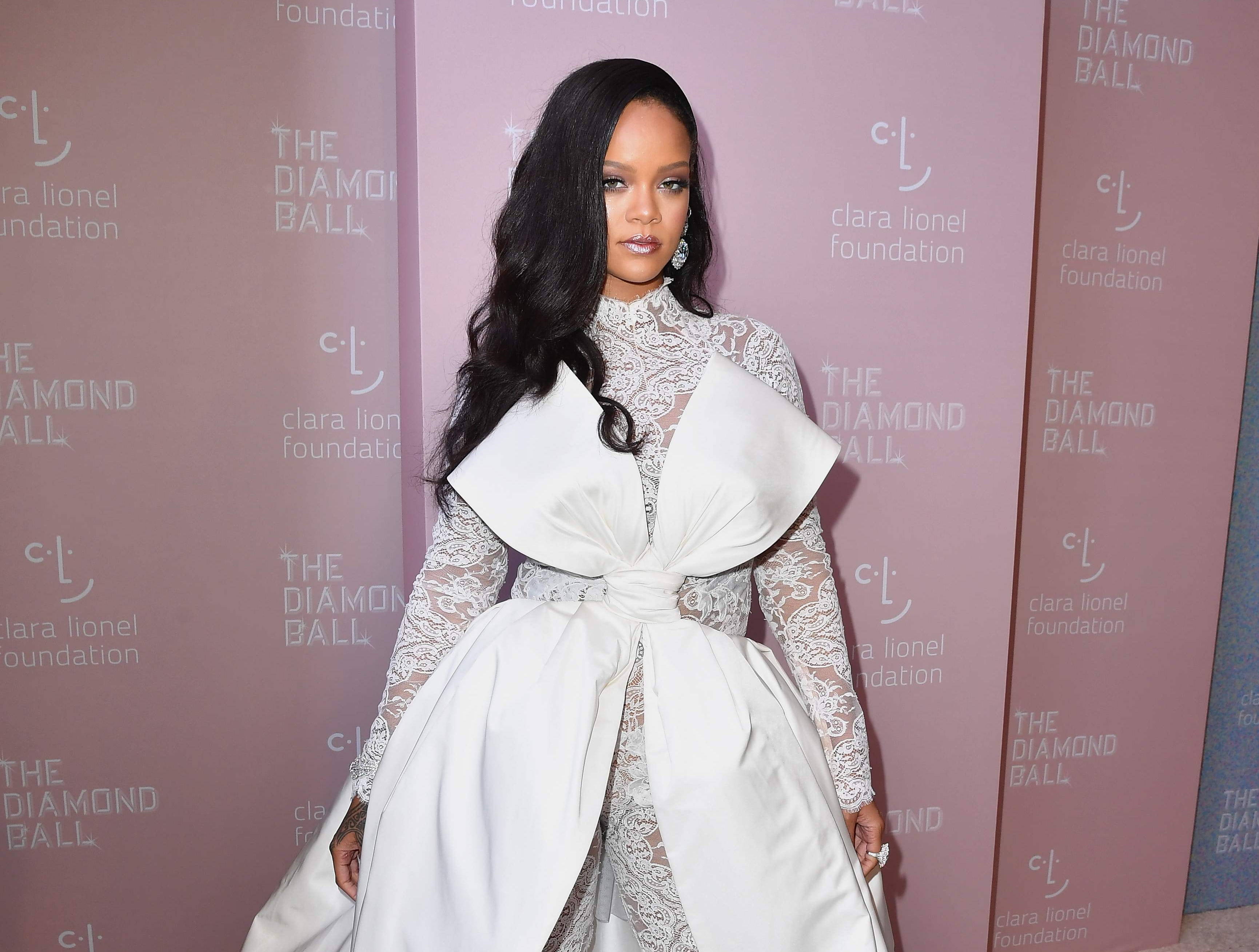 Rihanna attends Rihanna's 4th Annual Diamond Ball at Cipriani Wall Street on September 13, 2018 in New York City. (Photo by Angela Weiss / AFP)ANGELA WEISS/AFP/Getty Images ORIG FILE ID: AFP_1932NT