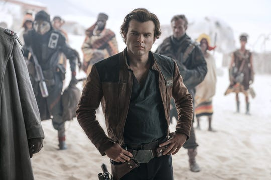 "Alden Ehrenreich is Han Solo in ""Solo: A Star Wars Story."""