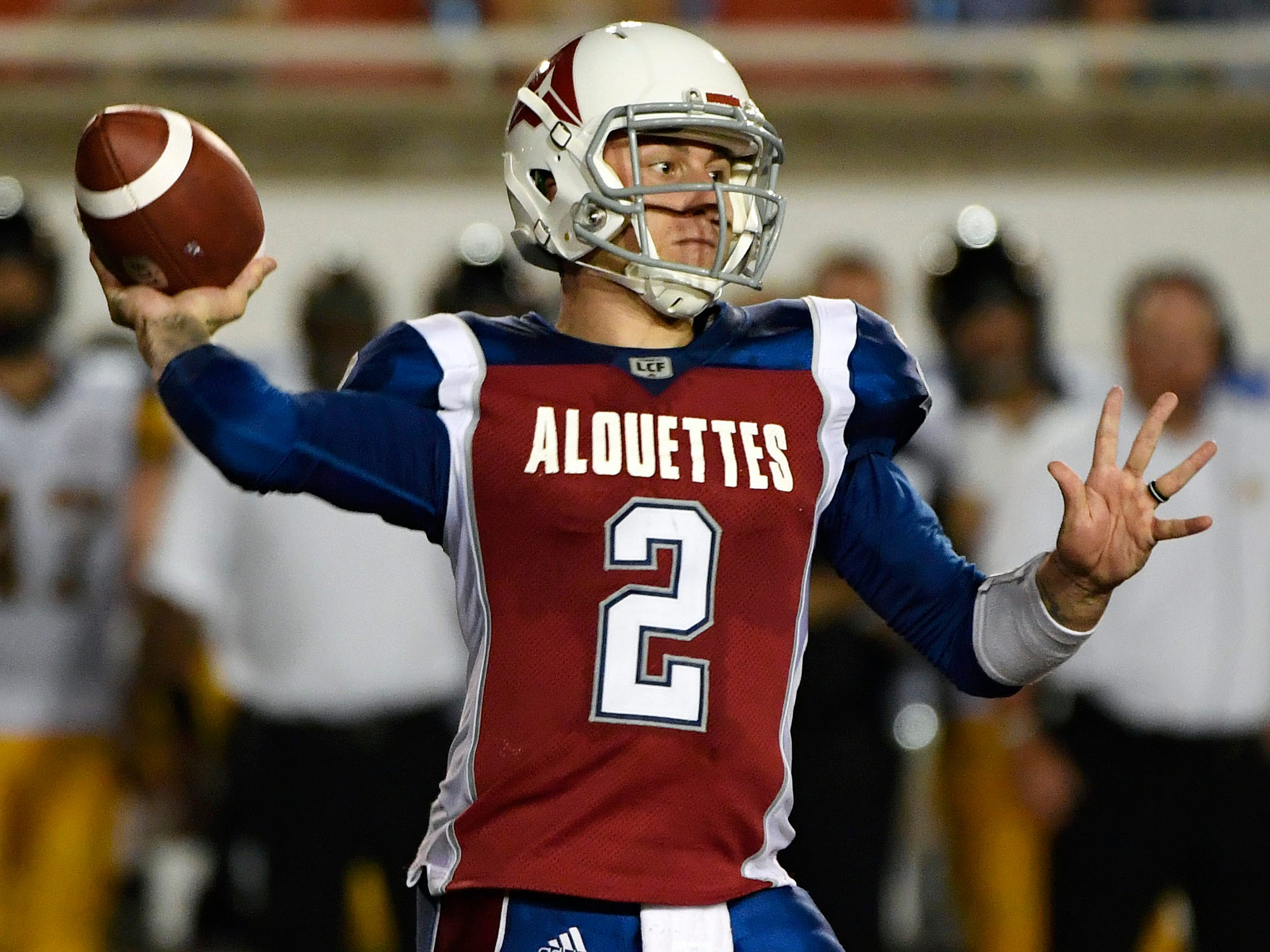 Johnny Manziel has played in two games for the Montreal Alouettes.