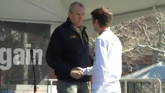 Gov. Murphy greets Zach Dougherty
