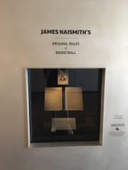The original rules of basketball, as written by Dr. James Naismith, reside at Allen Fieldhouse
