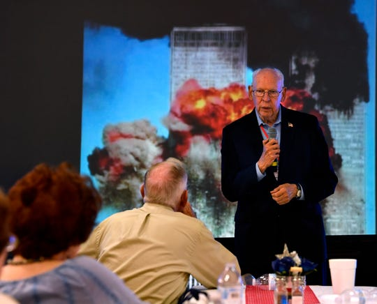 "Rafael Cruz, the father of U.S. Senator Ted Cruz, speaks about his memories of socialism and how conservative speech is under threat during an event sponsored by the Eastland County Republican Party on Sept. 11. ""We Will Never Forget: A 9/11 Remembrance"", was held at the River of Life Church youth center."