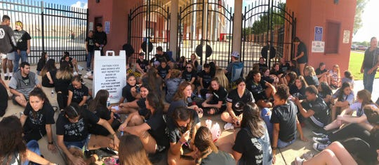 Abilene High fans wait for the gates to open at Shotwell Stadium before Friday's game against rival Cooper. The wait was worth it as the Eagles won, 20-13.