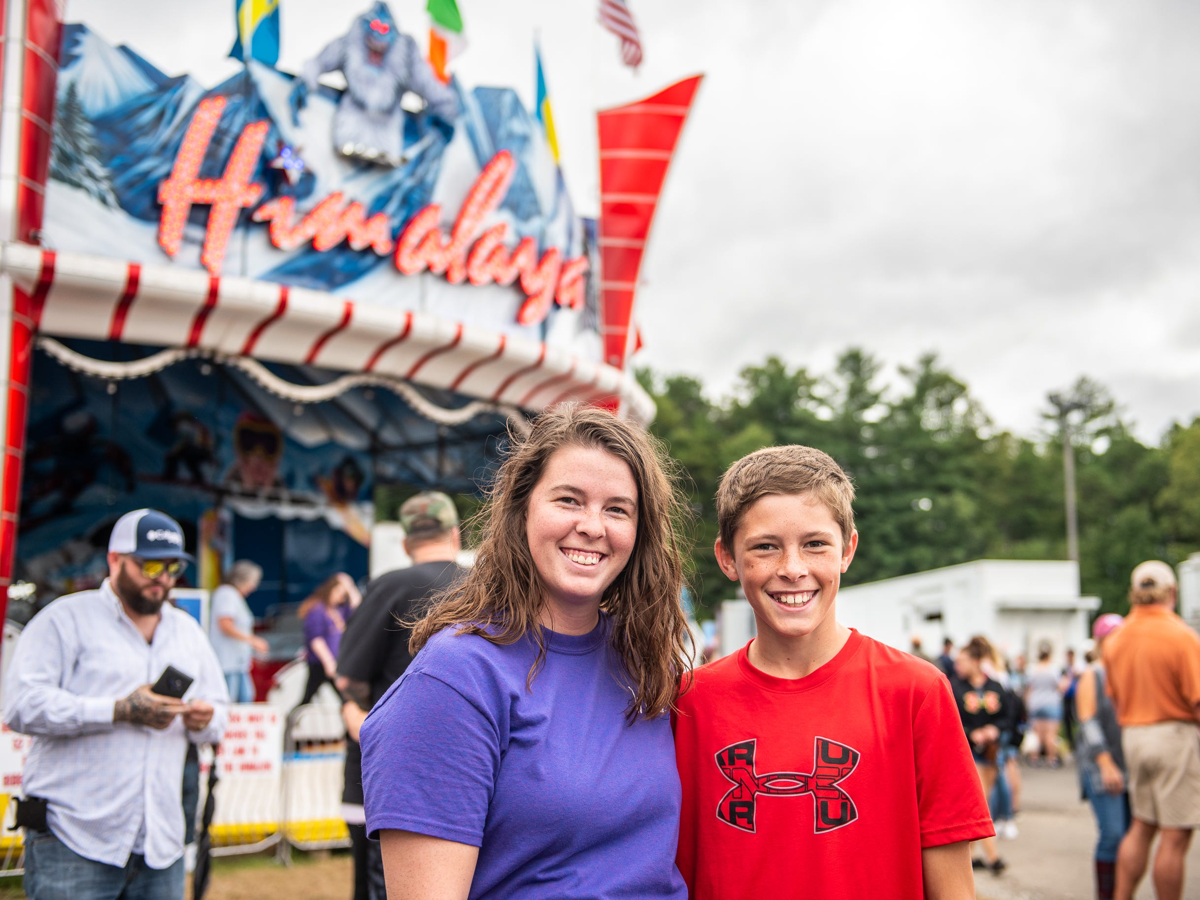 Katlyn and Kaleb D'Alessandro, of Weaverville, had a fun time riding the Himalaya at the N.C. State Fair on Sept. 15, 2018.
