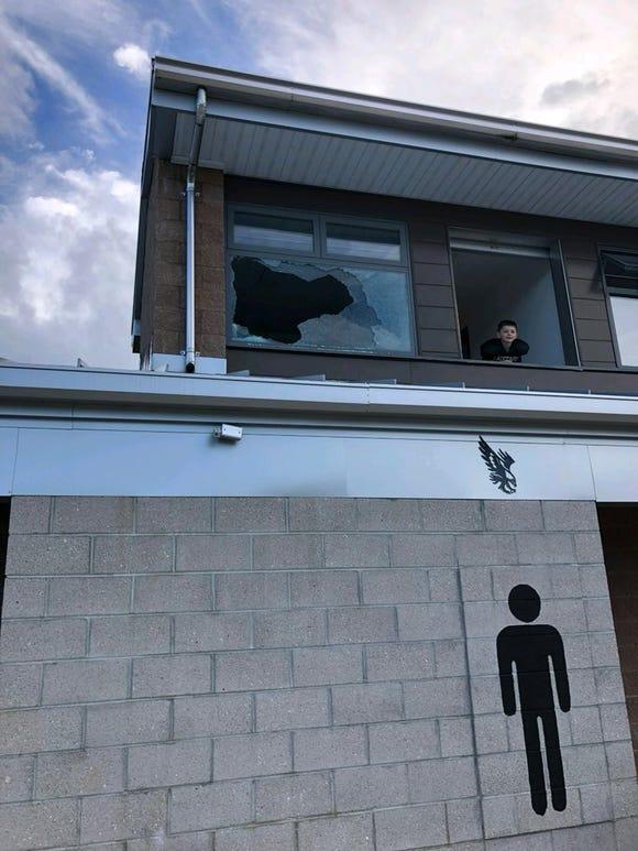 North Buncombe's football stadium was vandalized on Friday