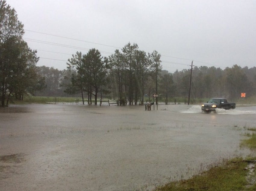 US 17 in Brunswick County, North Carolina on Saturday, Sept. 15, 2018. (NCDOT)
