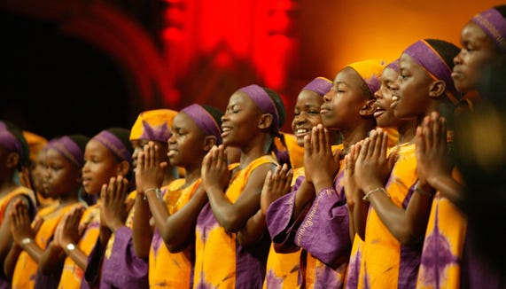 The African Children's Choir makes a Port Orchard Sept. 26 stop on its tour to benefit Music for Life.