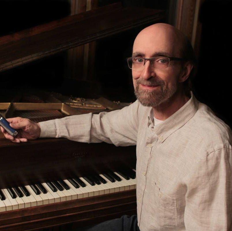George Winston performs a solo piano concert Sept. 21 in the Harvey Theatre at Olympic College. His Sept. 28 concert at Bainbridge Performing Arts is sold out.