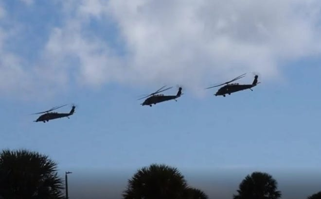 Reserve citizen airmen with the 920th Rescue Wing launched four HH-60G Pave Hawk helicopters and two HC-130 King aerial-refueling aircraft Thursday from Patrick Air Force Base, Florida to Moody Air Force Base in Georgia.
