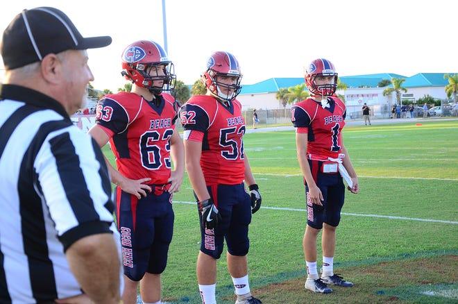 The Cocoa Beach Minutemen team captains Peter Sagorski, Michael Negron, and Ryan Tsarnas.