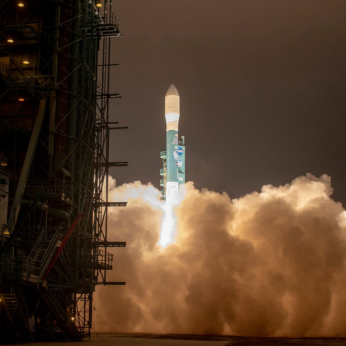 ULA launches final Delta II mission with NASA's ICESat; KSC gets a surprise rocket