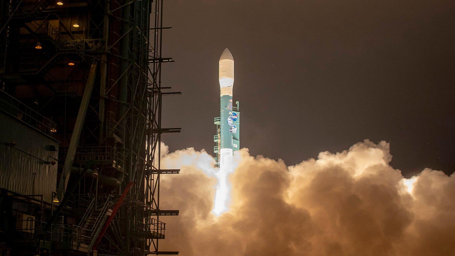 The final United Launch Alliance Delta II rocket...