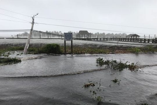 Flooding at Wrightsville Beach, N.C.