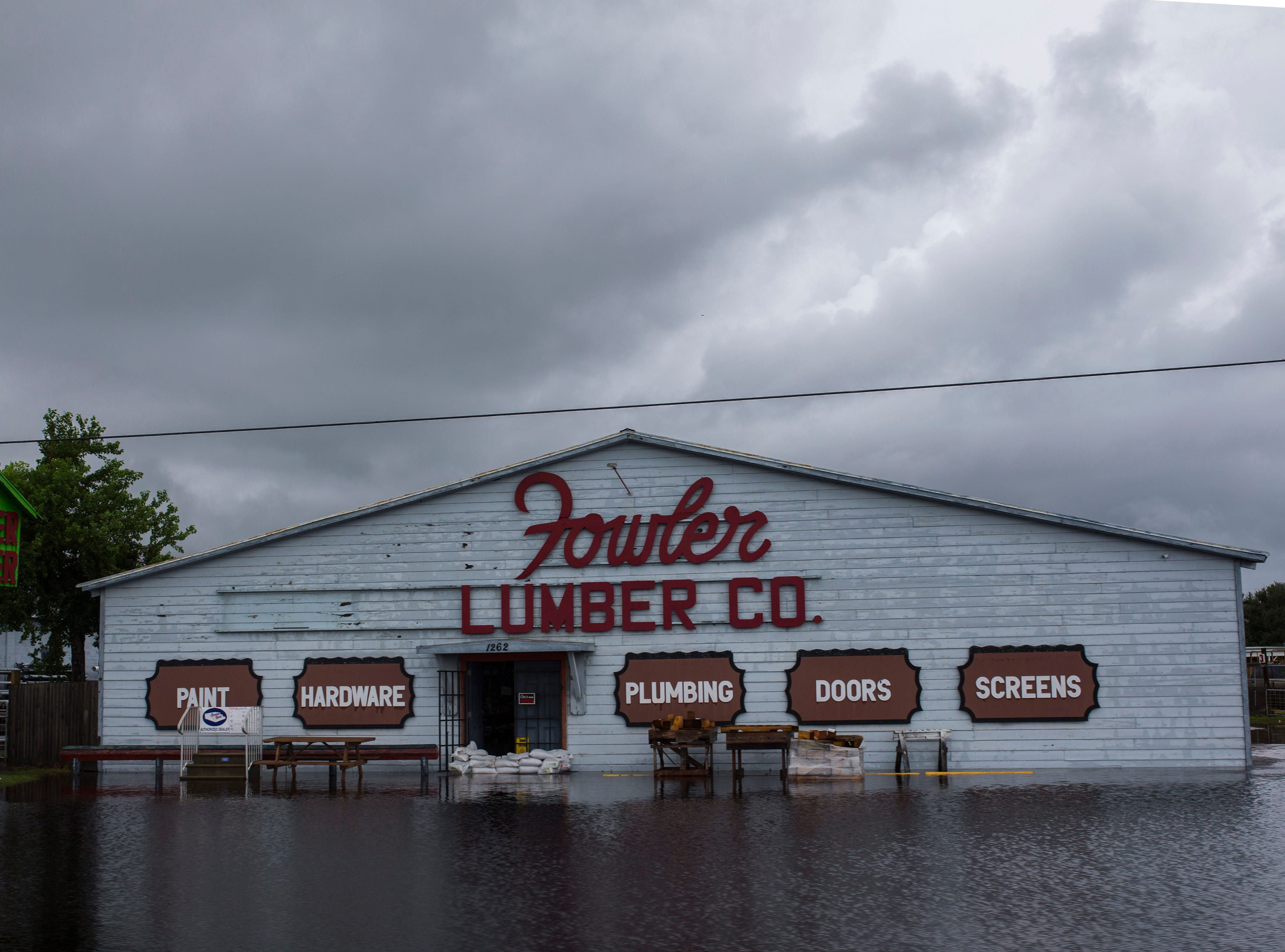 Fowler Lumber Company on Highway 35 between Rockport and Aransas Pass on Saturday, Sept. 15, 2018.