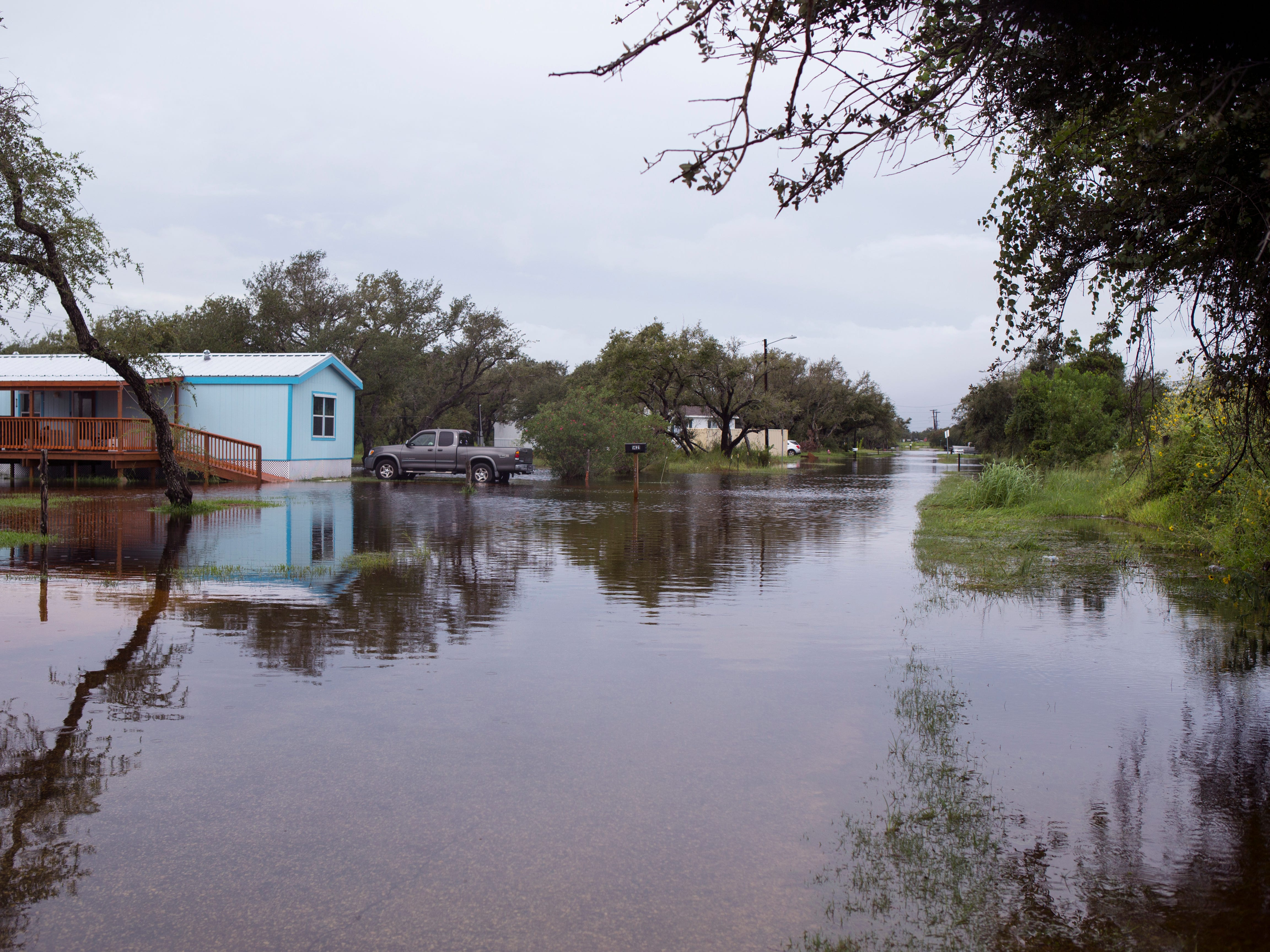 Ibis Drive in Rockport was flooded Saturday, September 15, 2018 due to high water.