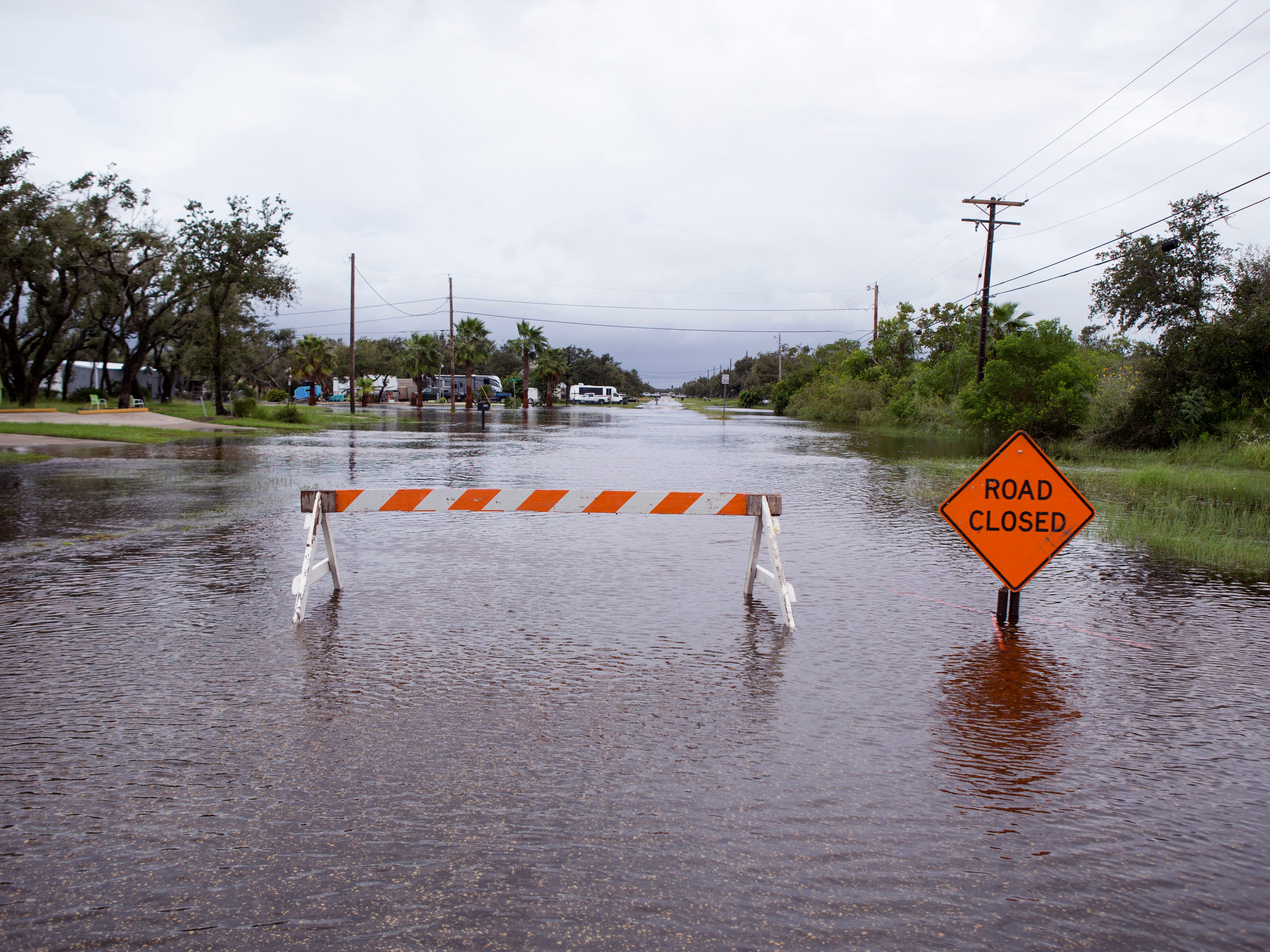 Linden Road in Rockport was closed due to high water on Saturday, September 15, 2018.