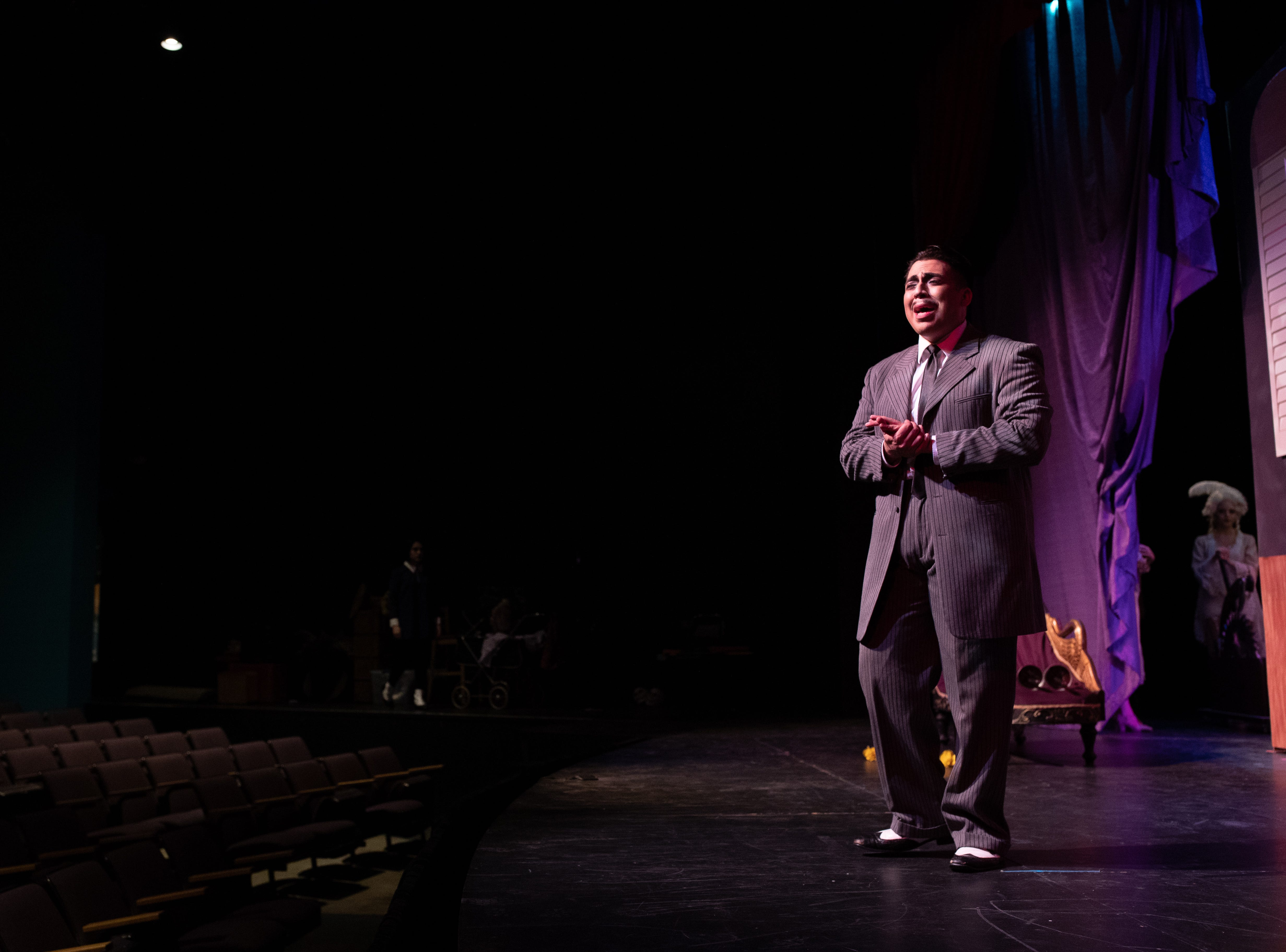 Gomez Addams played by Frank Garcia Jr. in the Harbor Playhouse's production of Addams Family running from Sept. 21 - October 31st.