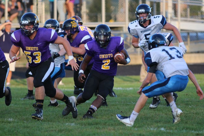 Unioto football's Jamarcus Carroll is the Chillicothe Gazette's Male Athlete of the Week for Sept. 9-15.