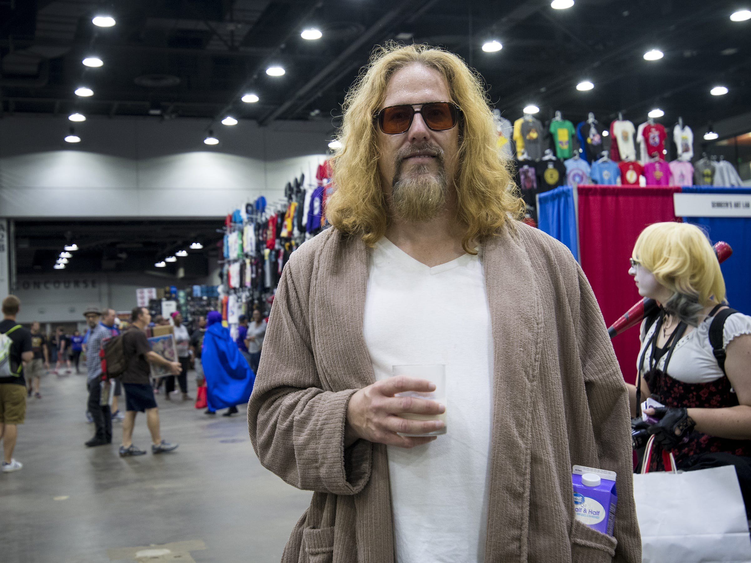 "Mark Stafford of Dayton dresses as ""The Dude"" from The Big Lebowski."