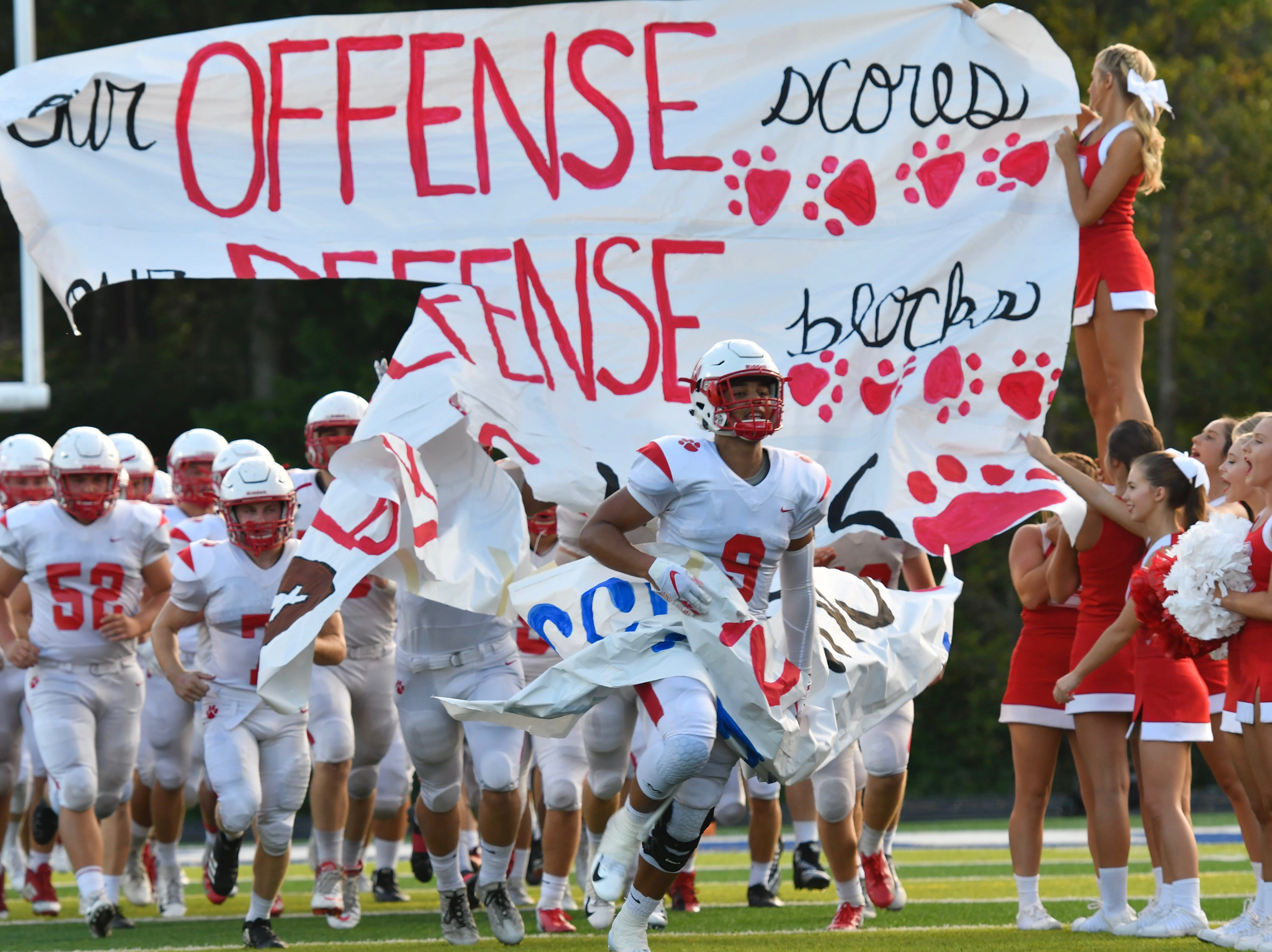 The Beechwood Tigers take the field Friday, Sept. 14, 2018.