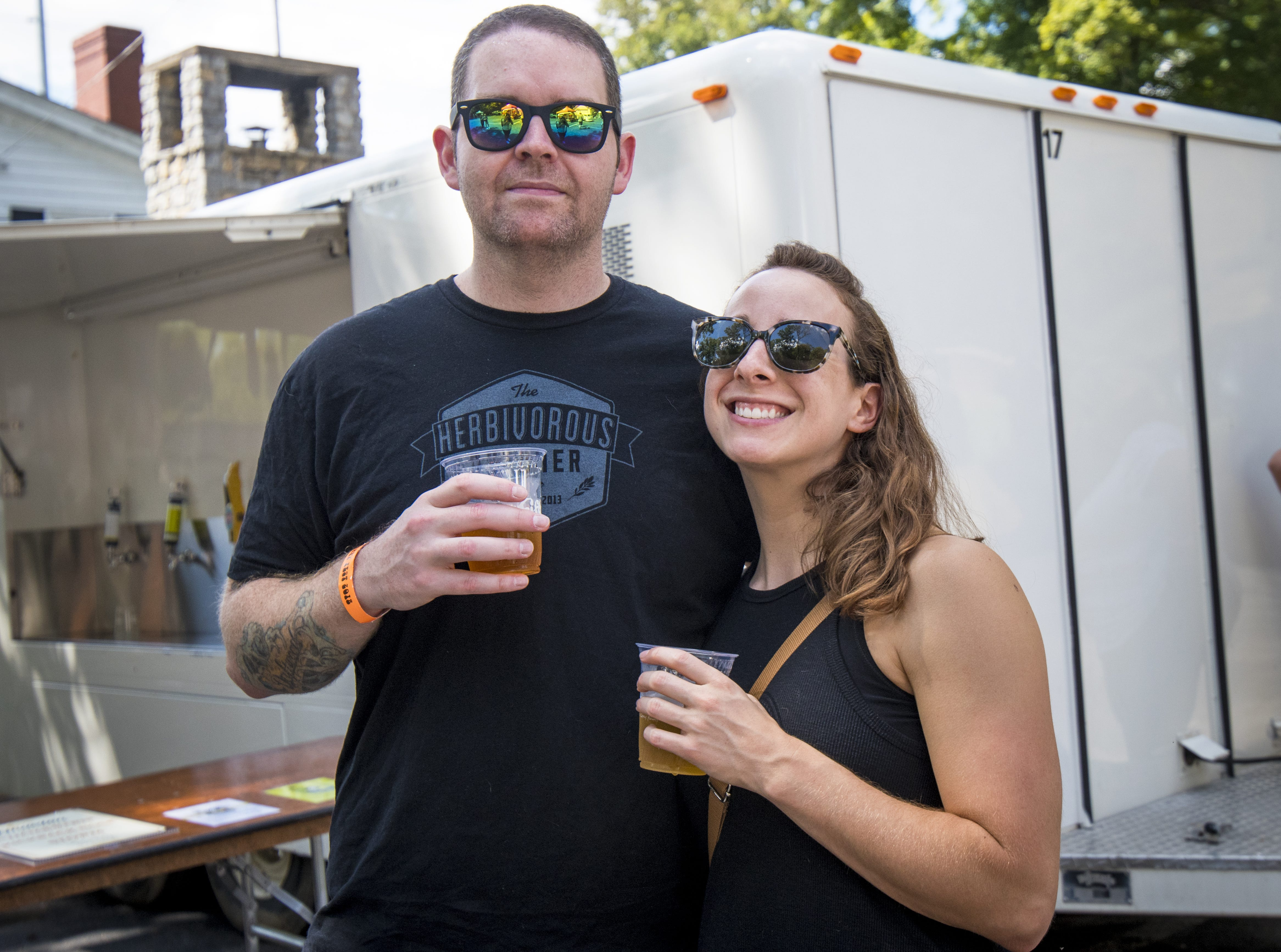 Wes Hickle and Christina Behm of Madisonville attend Fifty Fest at 50 West Brewing Saturday, September 15, 2018 in Cincinnati, Ohio.