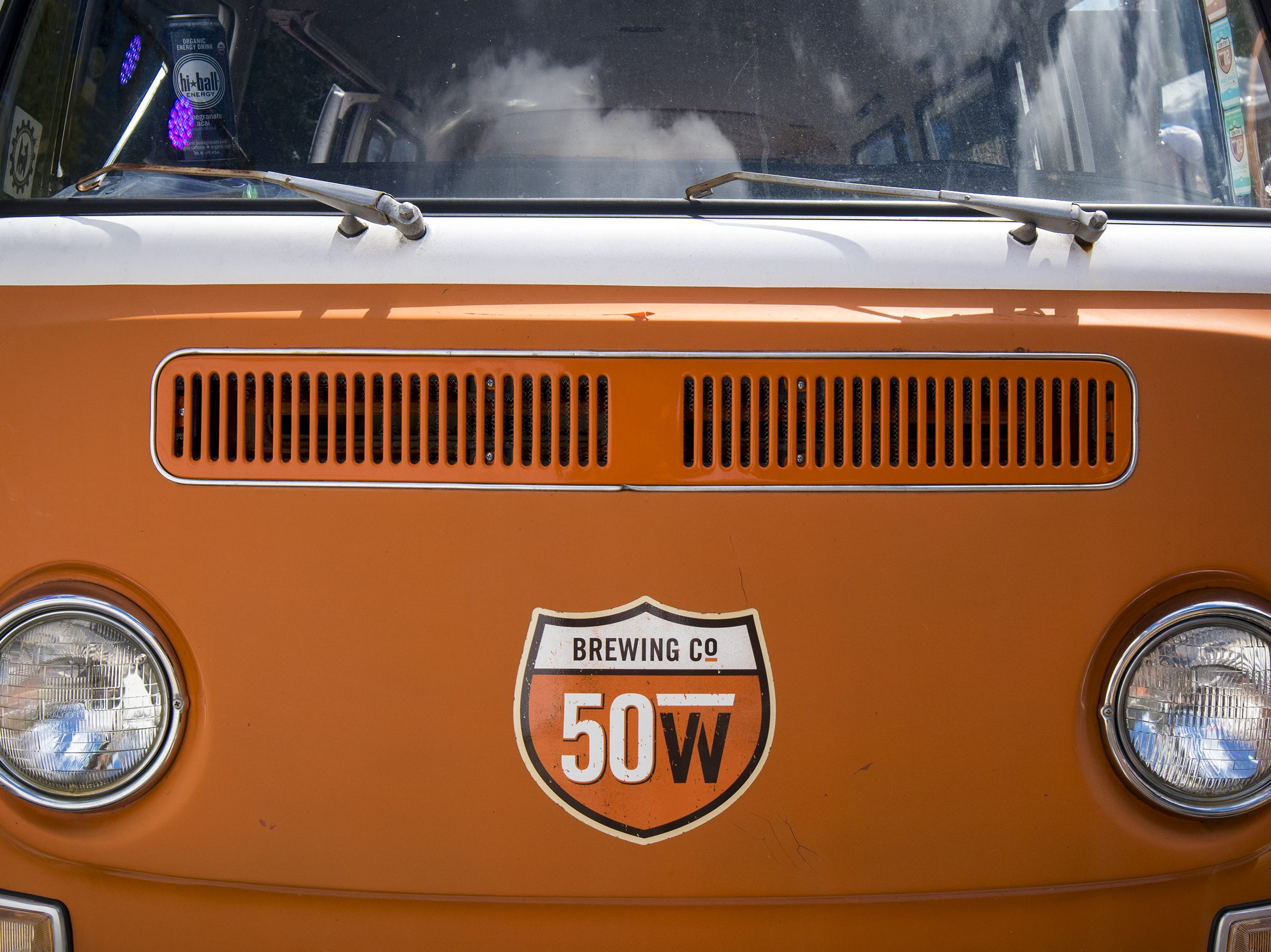 The iconic 50 West van sits at Fifty Fest Saturday, September 15, 2018 in Cincinnati, Ohio. The festival features beers from tons of local breweries.