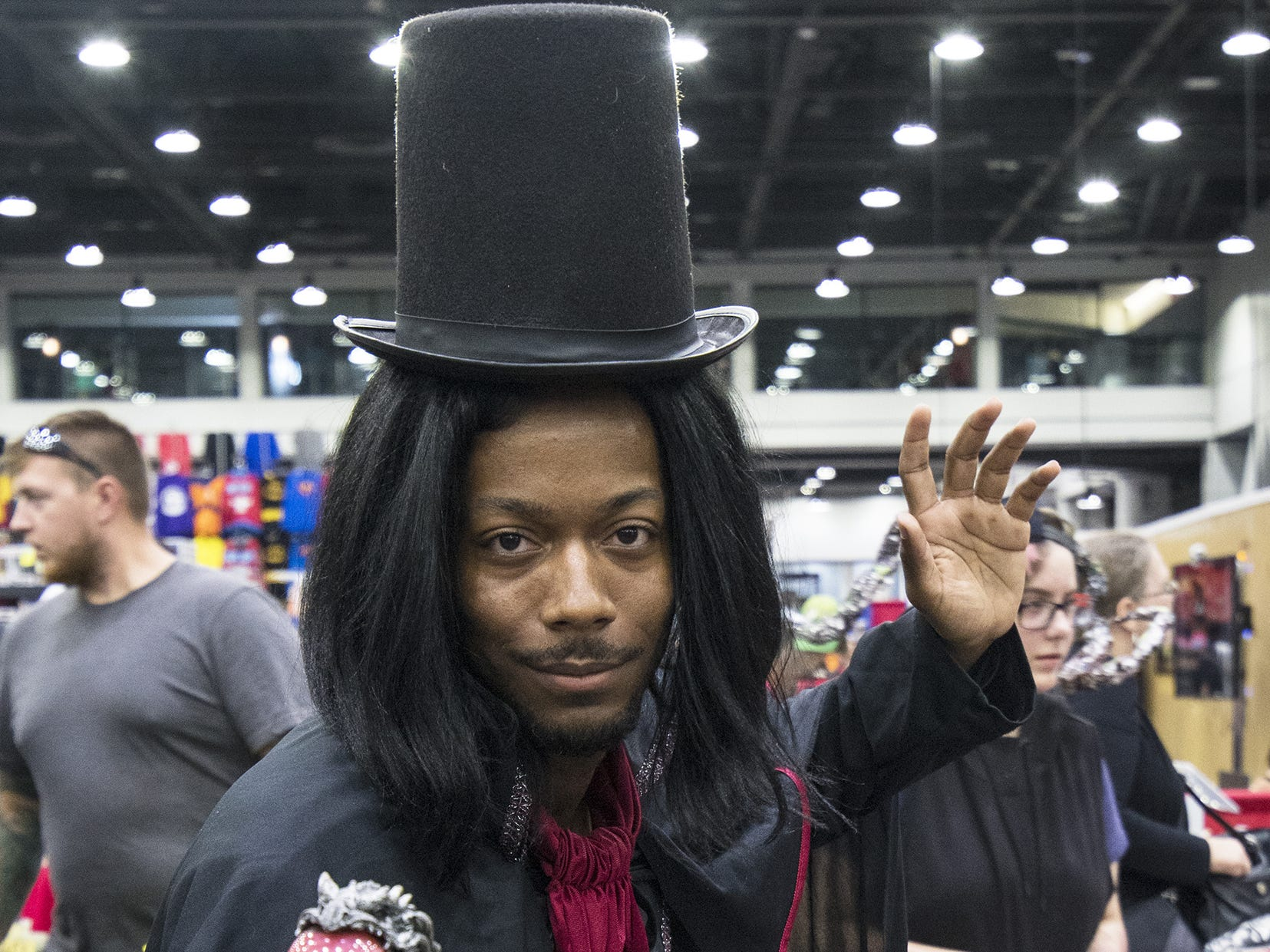 LaRon Williams of Loveland attends the Cincinnati Comic Expo.