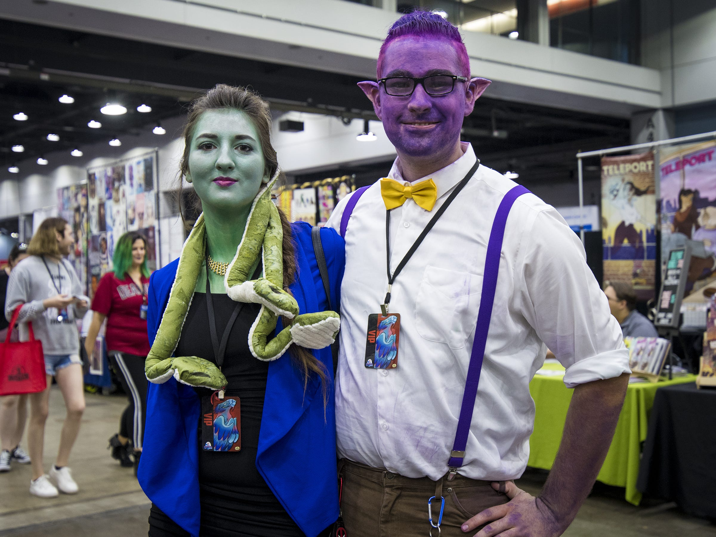 Jenny Scott of Southgate and Jake Moore of Hamilton dress as Vera Oberlin and Liam de Lioncourt from the video game Monster Prom.