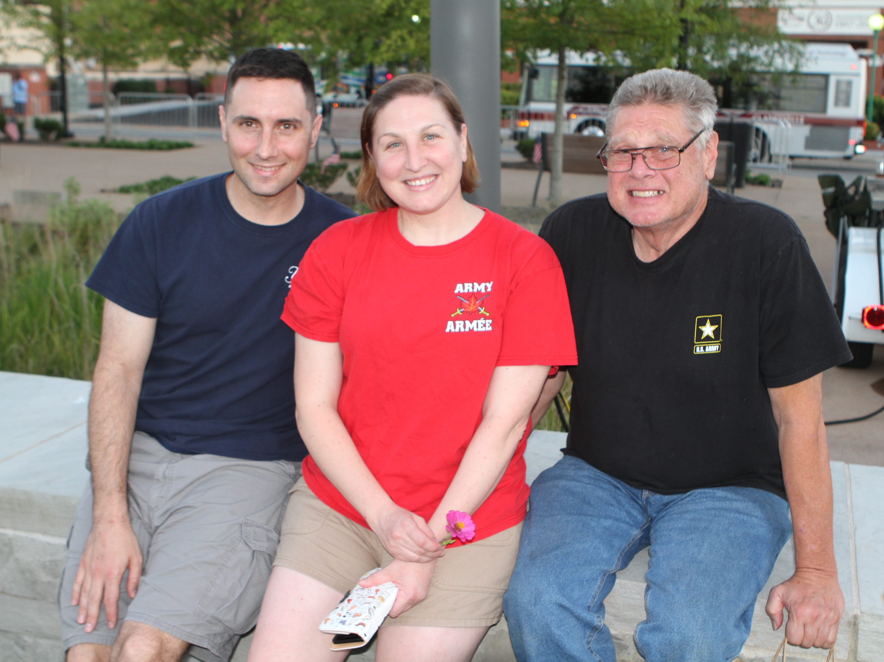 Gerard Cortese and Katherine and Stephen Bolcar at the Downtown at Sundown Welcome Home Veterans Concert featuring American Floyd, Friday, Sept. 14, 2018.