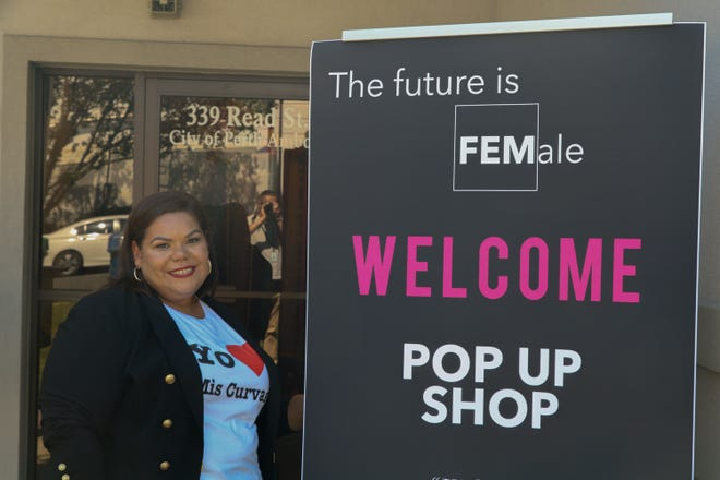 Founder of FEM Shops, the first pop-up shop in the City of Perth Amboy, Tashilee Vazquez