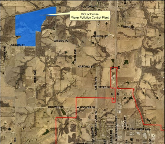 Indianola wants to built a $34.5 million wastewater treatment facility northwest of the city limits.
