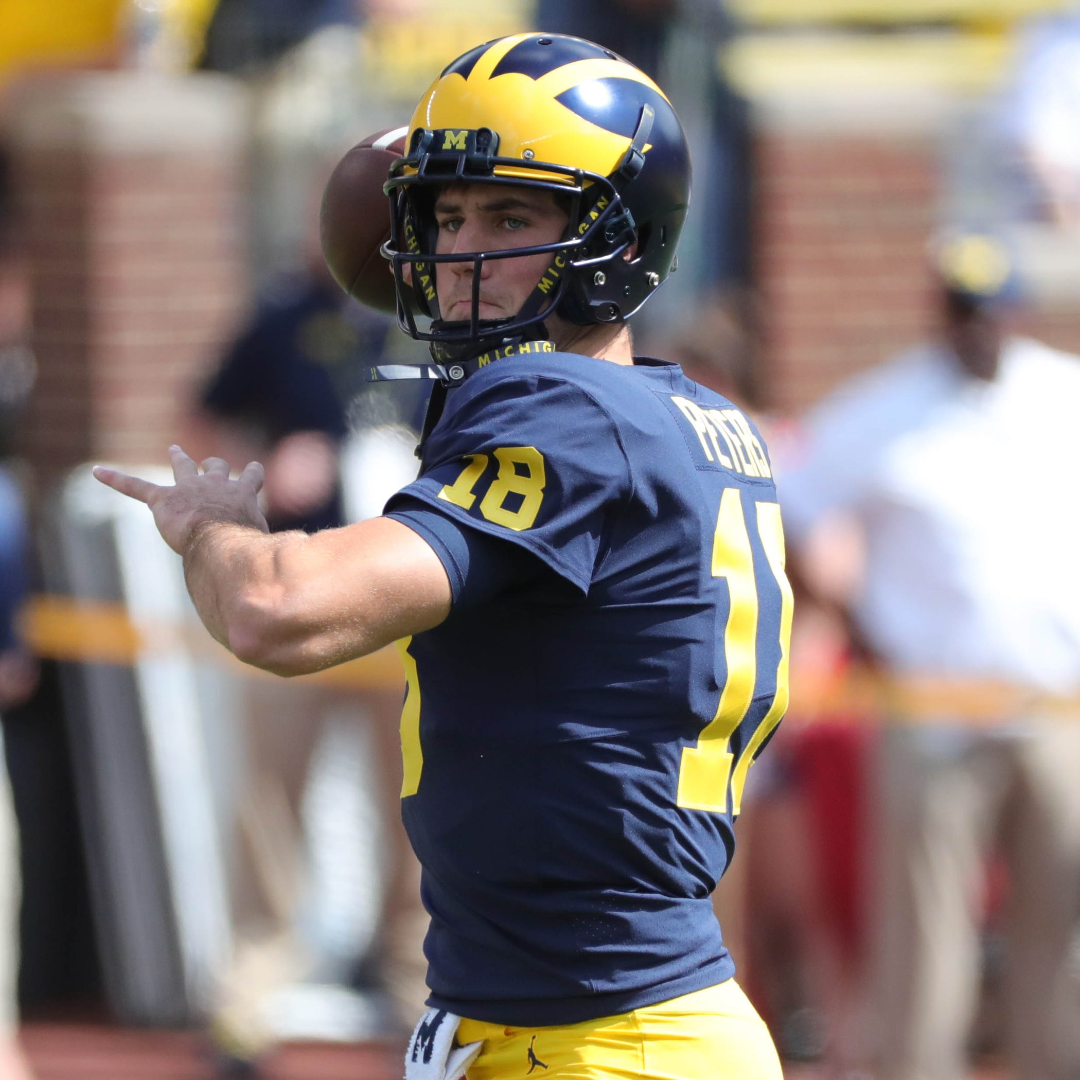 Michigan football QB Brandon Peters enters the transfer portal