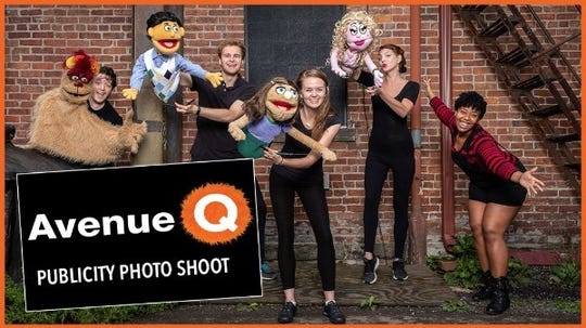 """The puppets in """"Avenue Q"""" are animated and voiced by actors who are present onstage,"""