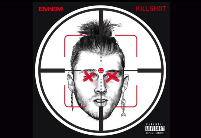 Eminem dropped an unexpected gift for his fans on Friday: a lyrical missive aimed at rival Machine Gun Kelly.
