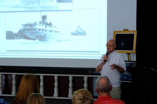 Frank Mays sharing his tale as the lone survivor of The Bradley after the sinking in 1958.